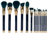 China 15 Pieces Popular Makeup Brushes Made Of Three Color Nylon Hair And Gold Aluminum factory