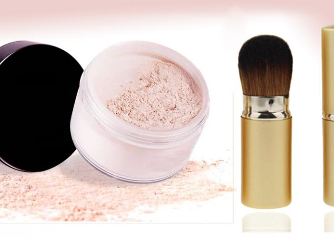 Oral Golden Beauty Blender Loose Powder Makeup Brush / Retractable Blusher Brush