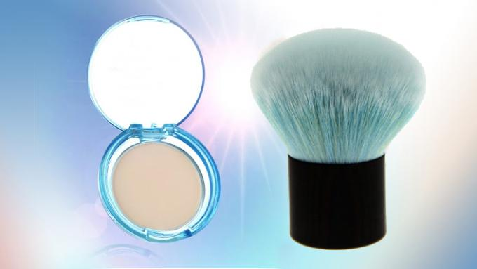 Blue Cute Mushroom Foundation Kabuki Brush Face Cleaning Makeup Brushes