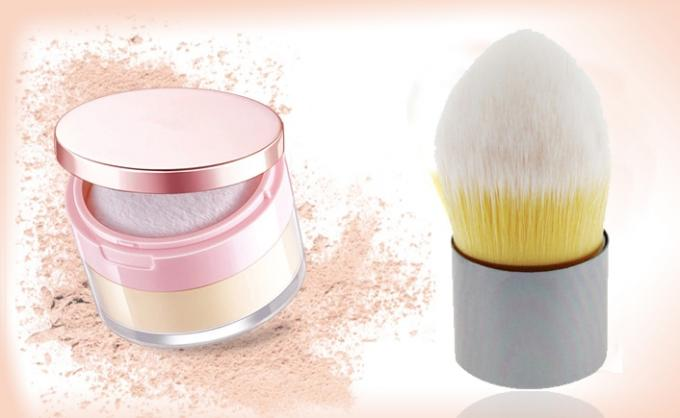 Dome Synthetic Hair Tapered Kabuki Brush Foundation Makeup Brush With Pouch