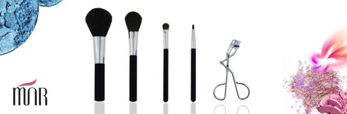 Small Gift Travel Makeup Brush Set Professional Eco Makeup Brushes Black