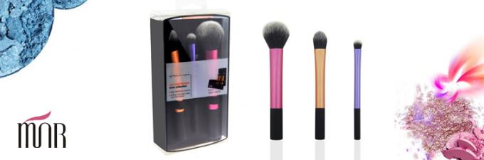 Flat Top Travel Makeup Brush Set / Private Label Makeup Brushes With Portable Pouch