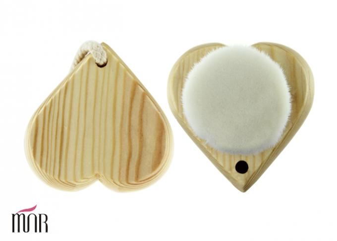 Heart Shape Facial Skin Cleansing Brush With 68mm Wooden Back