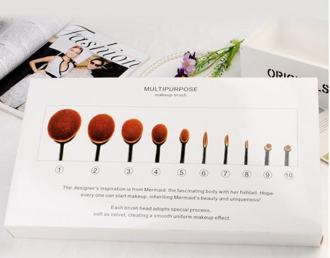 Toothbrush Shaped cosmetic brushes for makeup , 10pcs / set