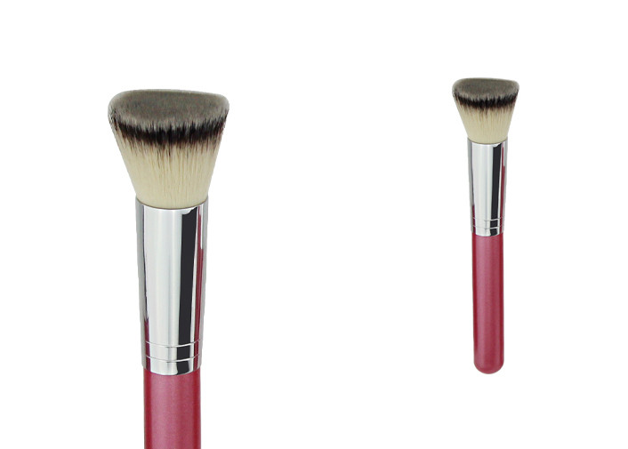 Private Label Foundation Makeup Brush With White Gery Synthetic Hair