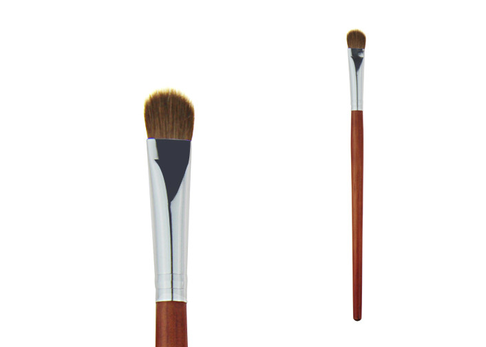 Weasel Hair Eyeshadow Blending Brush Bronzer Wooden Handle Aluminum Ferrule