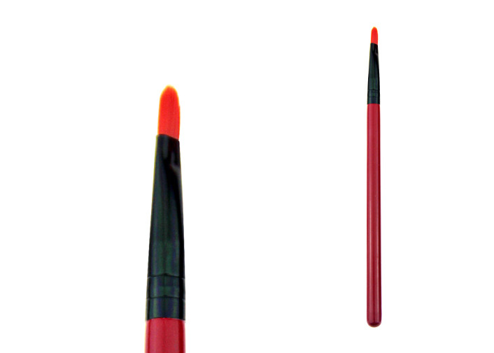 Economic And Practical Travel Lip Liner Brush Red Wooden Handle Black