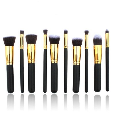 WhiteSilver Color Professional Cosmetic Brush Set  10 Piece/Set