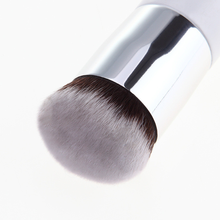 Makeup Tool Powder Foundation Brush With Silver And Gold