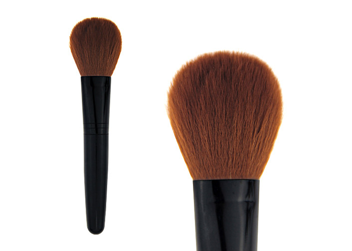 Black Natural Contour Makeup Blush Brush Cosmetic With Plastic Handle