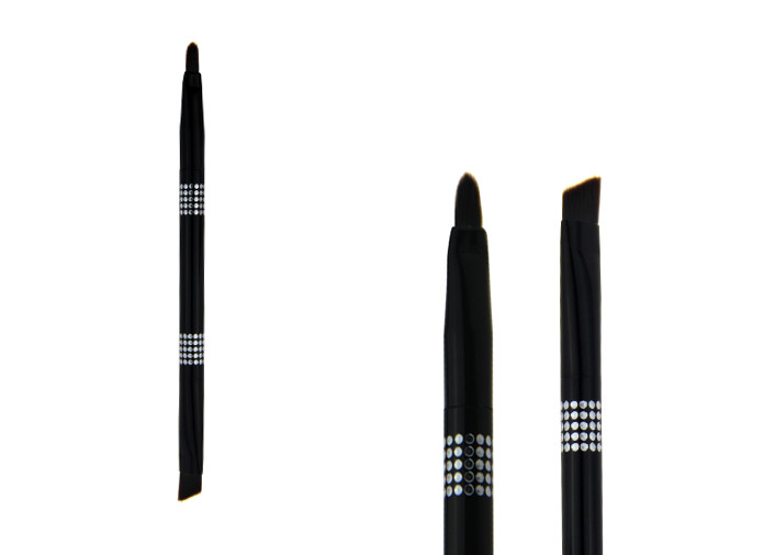 Black Double End Lip Liner Brush Retractable Lipstick Brush For Travel