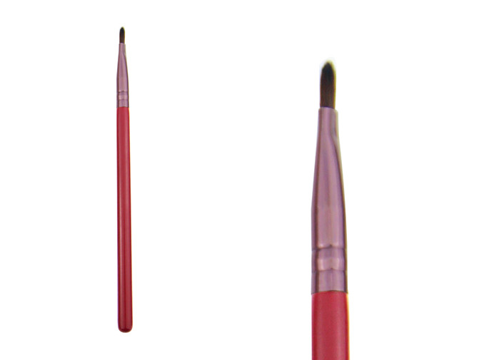 Red Synthetic Hair Makeup Tools Lips Brush For For Lip Liner And Lip Gloss