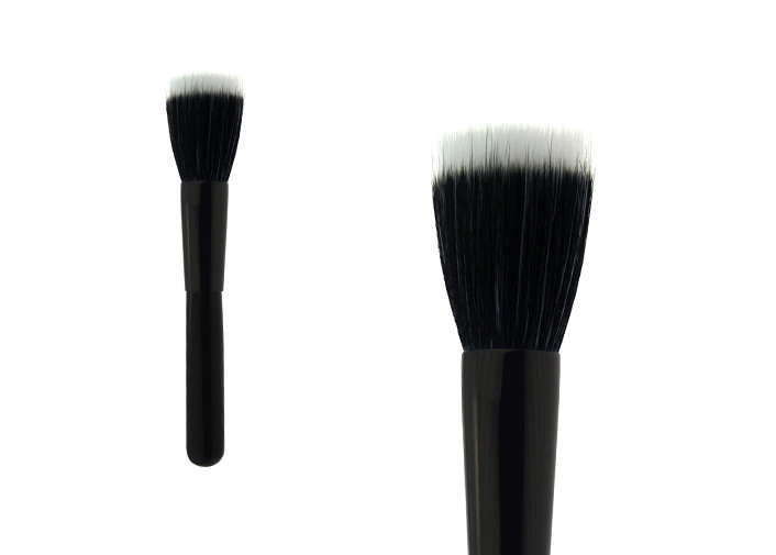 Professional Natural Black Handle Kabuki Makeup Brush For Foundation