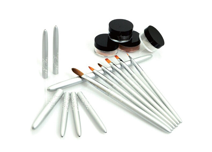 Kolinsky Sable Hair Nail Art Brushes Set , Nail Polish Applicator Brush