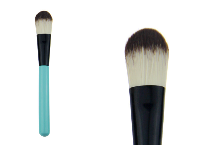 Portable Travel Powder Foundation Brush Cosmetic Brush For Face Eyebrow Beauty