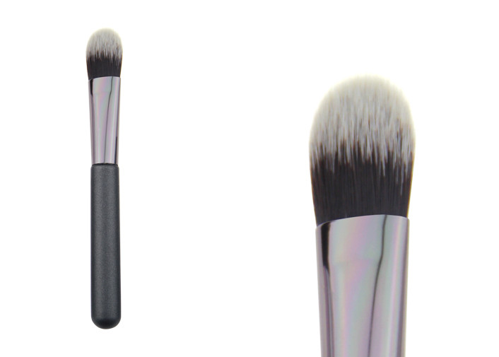 Natural Gray Small Powder Foundation Makeup Brushes Custom Cosmetic Tool