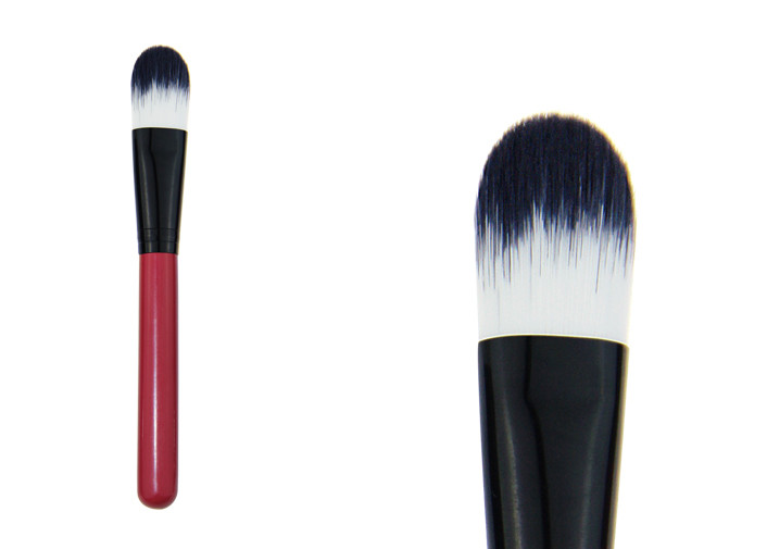Liquid Face Oval Foundation Brush Pro Make Up Brushes With Synthetic Hair