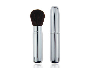 China 102mm Metal Handle Sliver Retractable Face Powder Brush Lightweight factory