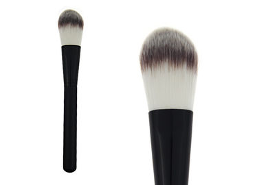 China Hot Cosmetic Tool Black  Handle Makeup Foundation Brush With Aluminium factory