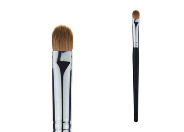 Wood Handle Weasel Hair Eyeshadow Blending Brush With Sliver Aluminum