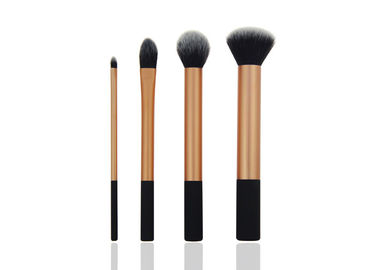 China 4 Pieces Foundation Makeup Brush Long Handle Duo Fiber Synthetic Hair Case factory