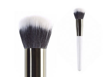 Foundation Contour Buffer Makeup Brush White Long Handle Falt Top Hair