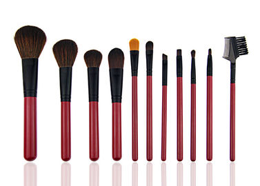 China Red Beautiful Travel Foundation Makeup Brushes Professional Set 11 Piece factory