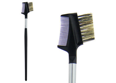 China Black Synthetic Hair Eyebrow Comb Brush Professional Makeup Brush Kits factory