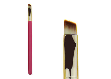 China Synthetic Hair Angled Eye Brow Brush / Eyeshadow Makeup Brushes factory