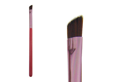 China Custom Beauty Eye Brow Brush With Wood Handle , Private Label Makeup Brushes factory