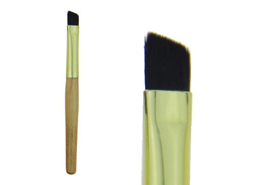 China Bamboo Angled Eyebrow Makeup Brush With Different Colors / Wood Handle factory