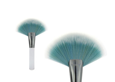 China Large Fan Travel Contour Tapered Blush Brush Highlight , Blue And White factory
