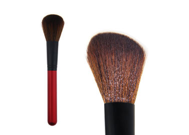 China Red Handmade Contour Blush Brush Soft Makeup Brushes With Synthetic Hair factory