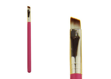 China Tapered Pink Angle Eyeshadow Blending Brush Makeup Cosmetic Eyebrow Brush factory