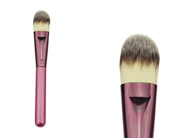 China Pink Single Travel Size Stippling Makeup Brush For Powder Foundation factory